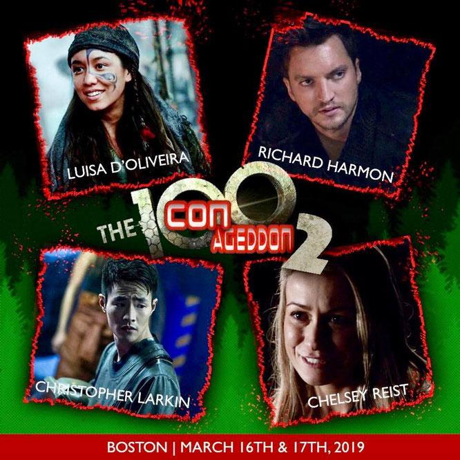 Mar 16-17, 2019 - Boston, MA. - Conageddon 2 - With Richard Harmon, Luisa D'Oliveira, Christopher Larkin, and Chelsey Reist.