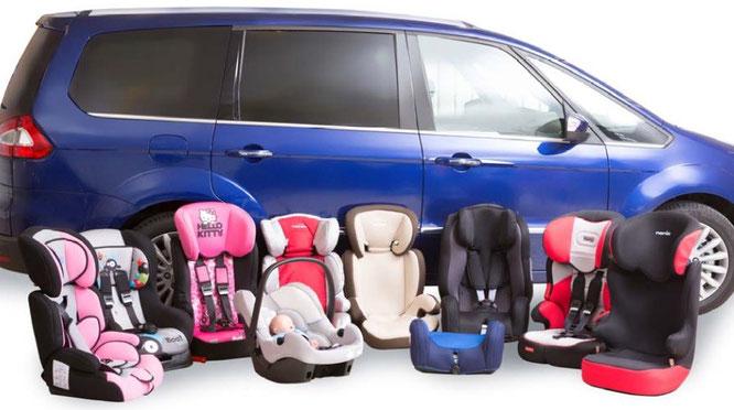 Sistemas de retención infantil, silletas para viajar en vehículos. RACE
