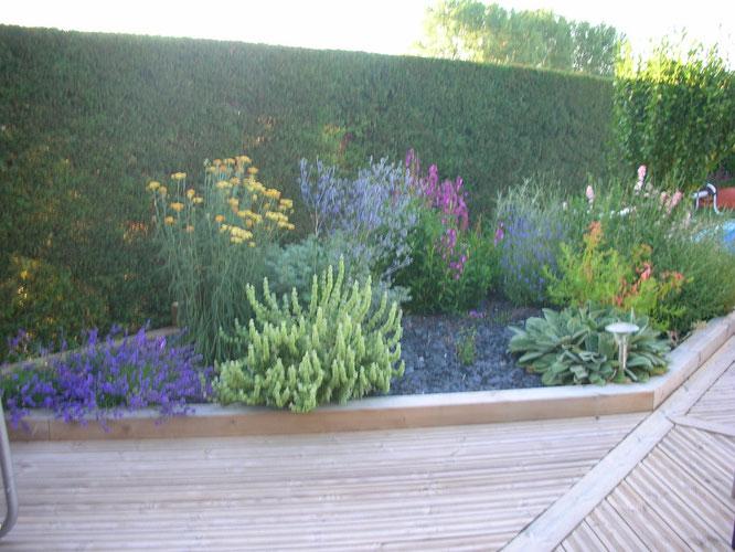 terrasse bois et création massif