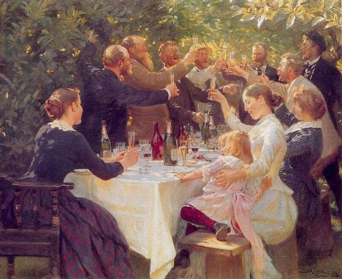 """Peder Severin Krøyer: """"Hip, Hip, Hurrah!"""""""