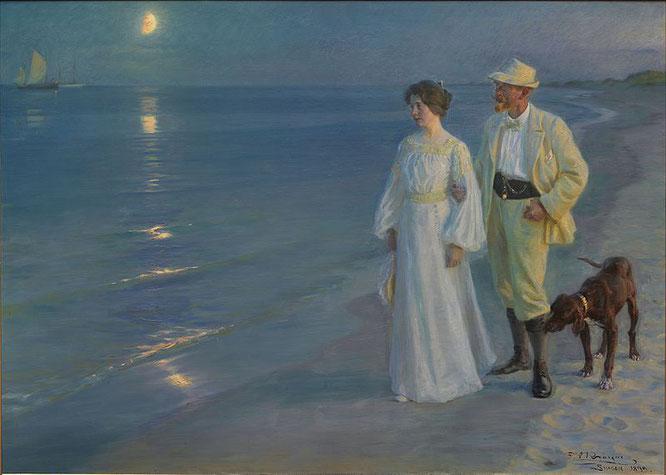 """Peder Severin Krøyer: """"Sommerabend am Strand von Skagen"""" (Sammlung Hirschsprung Kopenhagen)"""