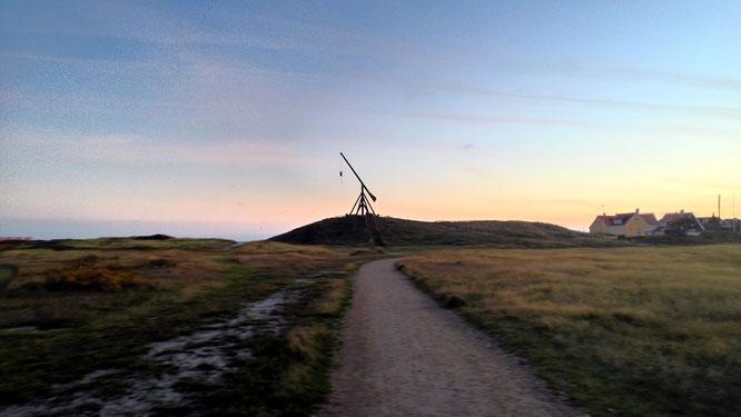 Alt, aber effektiv: Dänemarks ältestes Leuchtfeuer bestand aus einem Feuerkorb.