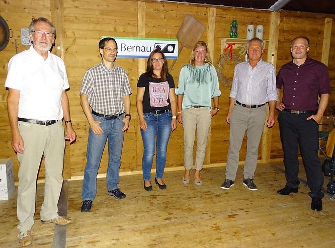 v.l.n.r.: Klaus Amberger, Peter Hadamek, Esther Ulrich, Gabi Ruhbaum, Georg Bauer, Georg Bauer jun.