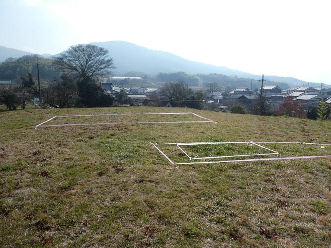 2019年3月の「箸中ロマンウォーク」のイベント時に示された埋葬施設の位置