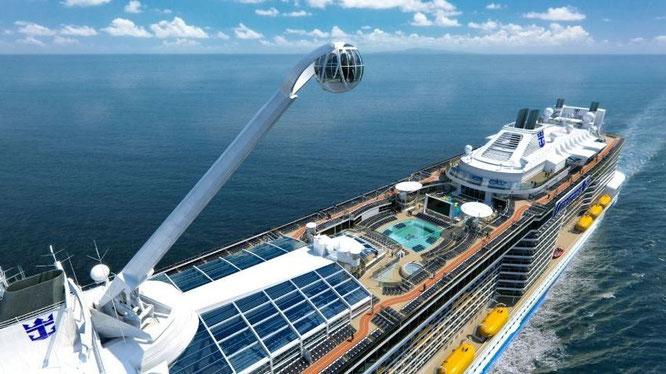 Die Anthem of the Seas mit seiner 90 Meter hohen Aussichtskugel