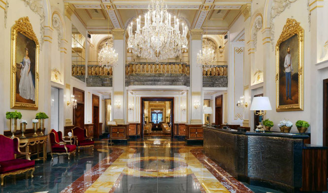Empfangshalle im Hotel Imperial