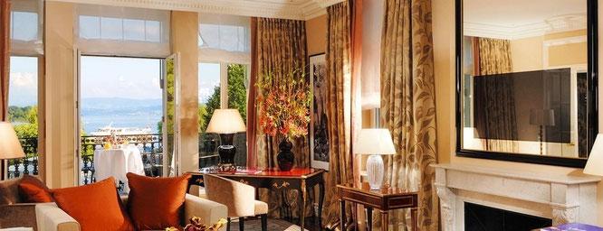Zimmer im Hotel Baur au Lac in Zürich