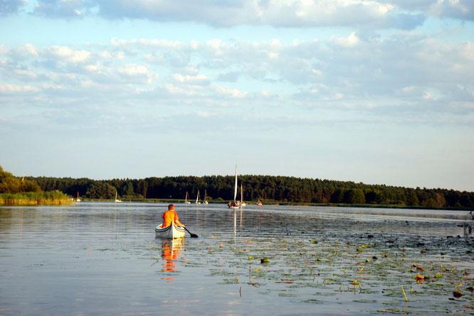 Wassersport auf den Brandenburger Seen