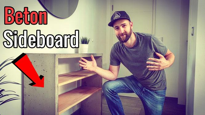 Ein Sideboard aus Beton und Holz bauen
