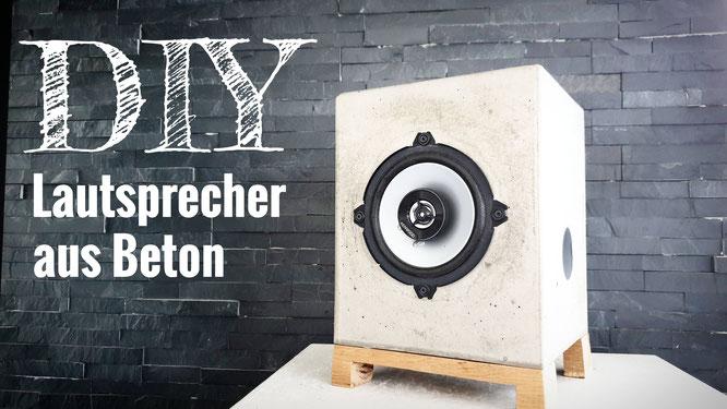 Lautsprecher aus Beton selber bauen