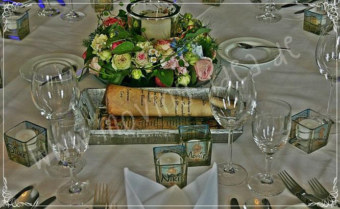 Deko für Hochzeitstische als besondere Idee