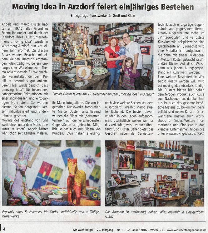 einjähriges Bestehen von moving idea in Arzdorf-Wachtberg