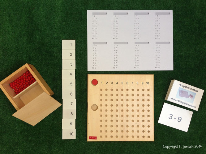 maria montessori, kleine multiplikation