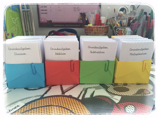 Grundaufgabenheftchen für die Schüler und Schülerinnen ... eben fertiggestellt!