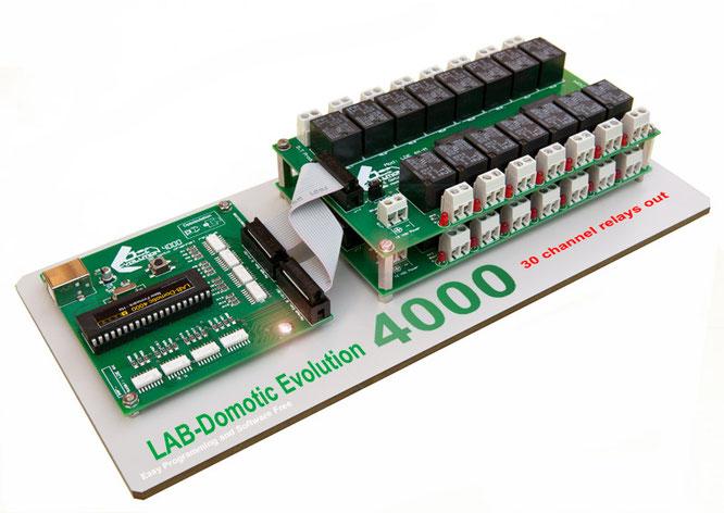 Lab domotic 4000 labdomotic progetto domotica e for Centralina domotica