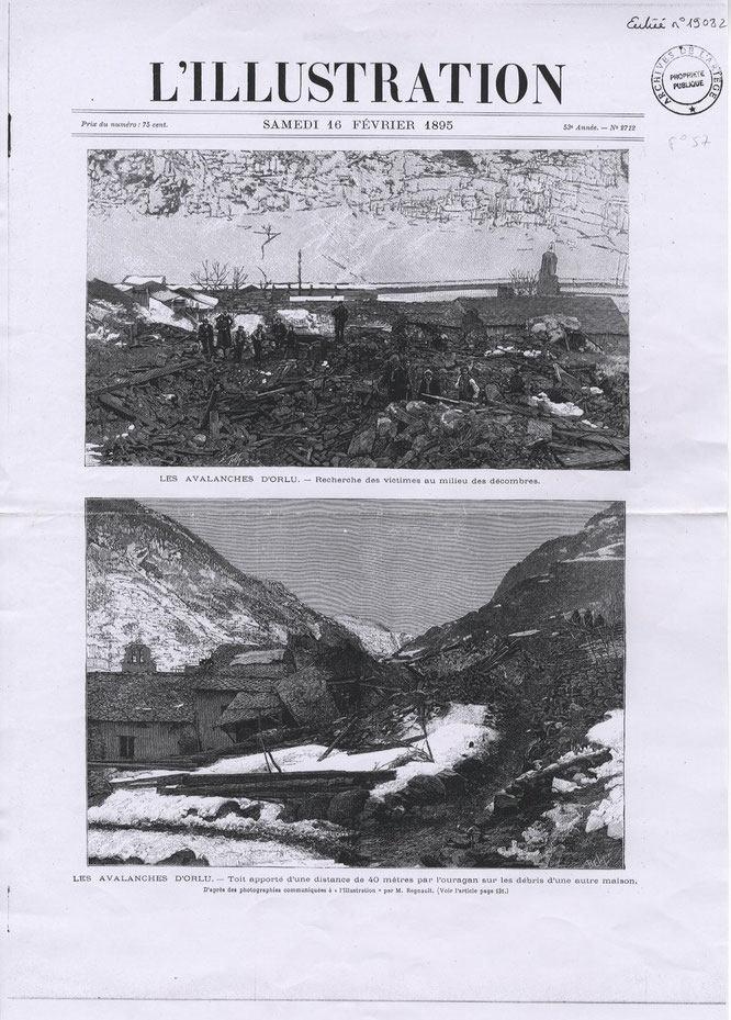 Les avalanches d'Orlu. © M. Regnault