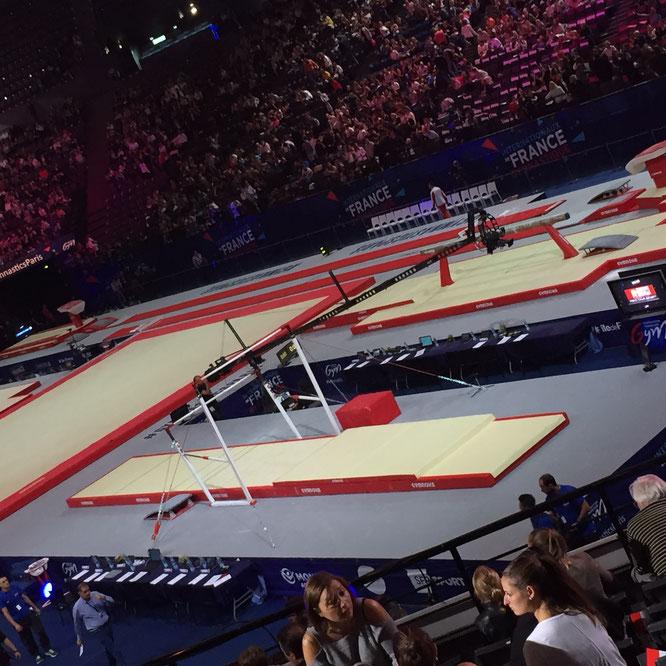 Bercy 2017 les internationaux de gymnastique Super ambiance bravo à l'équipe de France