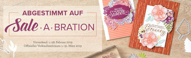 sale a bration stampin up - gratis artikel