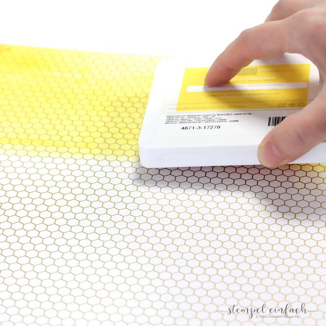 Designerpapier Bienengold-Stampin Up