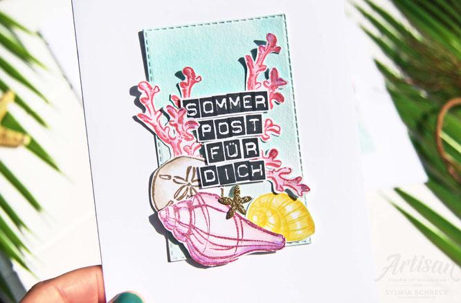 Karte-Sommerpost mit Meerwert