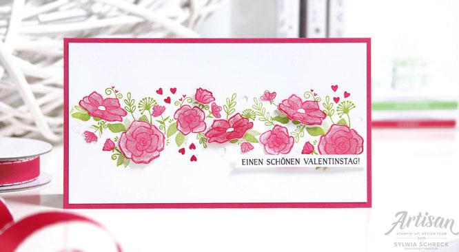 einen schönen Valentinstag-Stampin up
