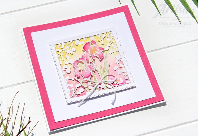 Card-Inspiring Iris-Stampin up