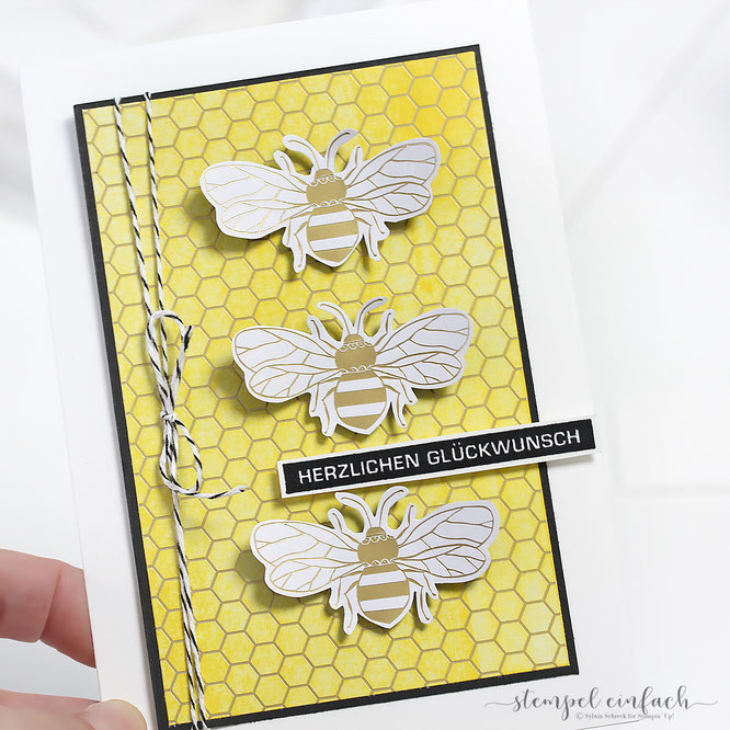 Karte-Honey Bee & Bienengold-Stampin Up