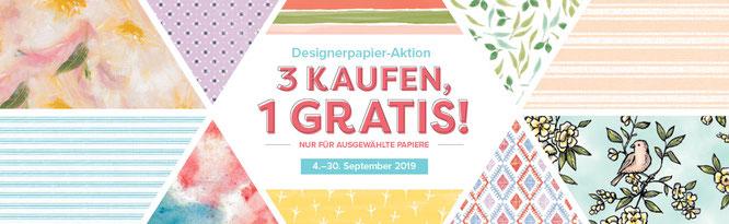 designerpapier aktion