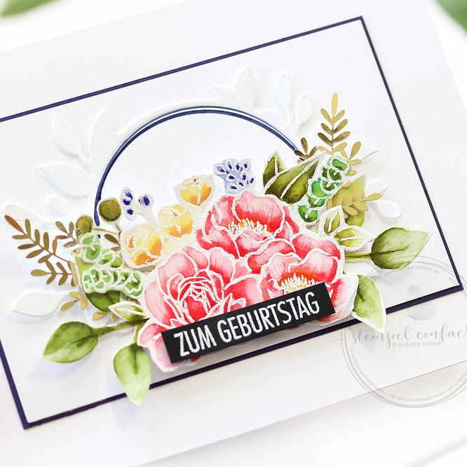 Geburtstagskarte-Jar of Flowers-sylwia schreck - stampin up