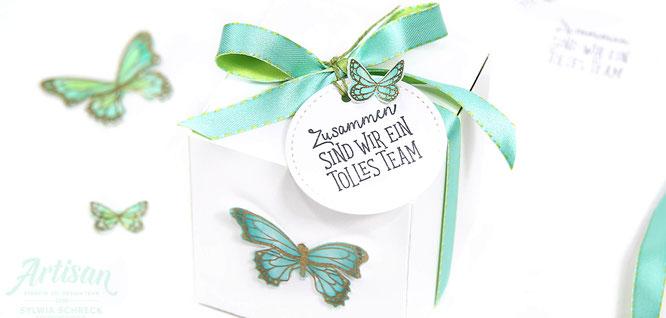 Verpackungen mit Schmetterlingen