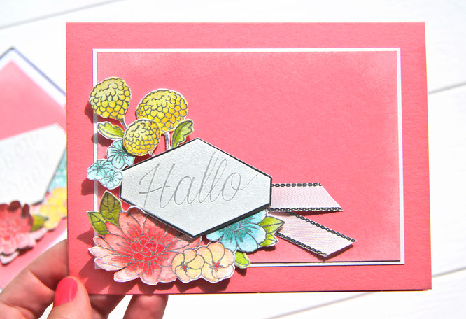 Karte-Blumiges Etikett-Stampin Up