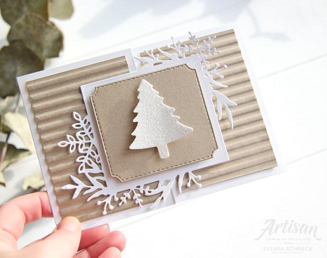 Weihnachtskarte mit Tannenbaum von Stampin Up