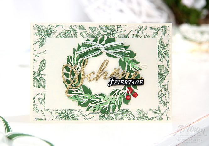 Weihnachtskarte - Landhausweihnacht-Stampin up