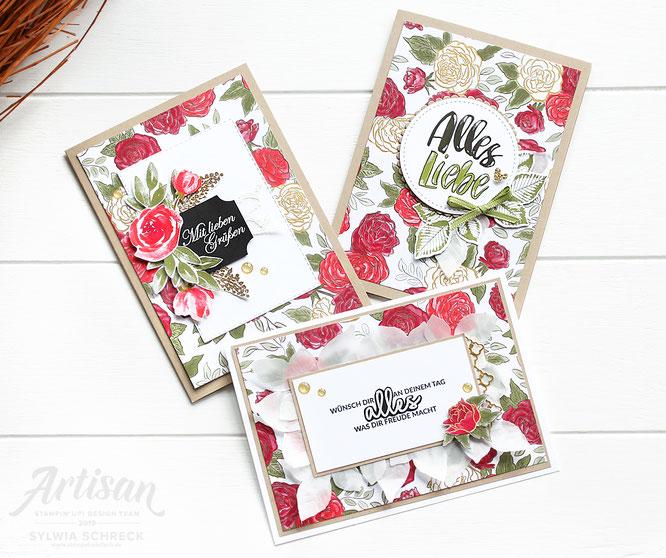 Geburtstagskarten mit designerpapier wunderbare weihnachtszeit