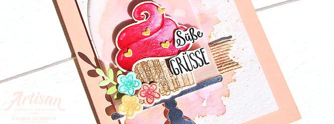 Suesse gruesse fuer dich-cupcake-card
