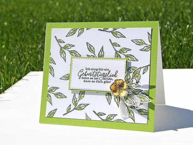 Geburtstagslied-Karte