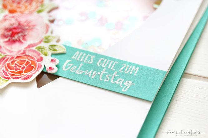Herzige Schüttelkarte-Stampin Up