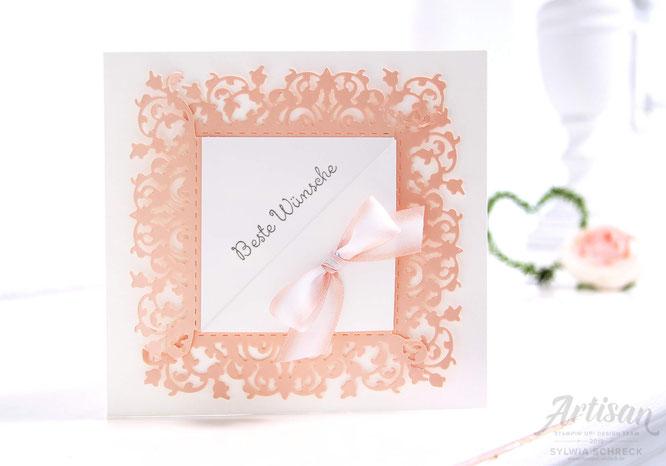 Romantische Hochzeitskarte mit Spitze & Stampin Up