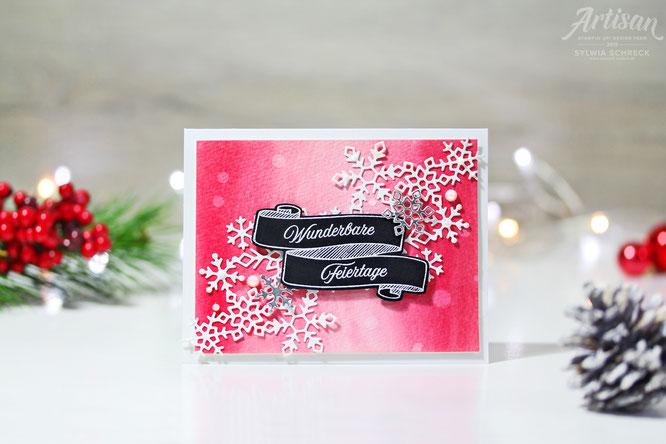 Aquarell-Weihnachtskarte-Stampinup-Glutrot