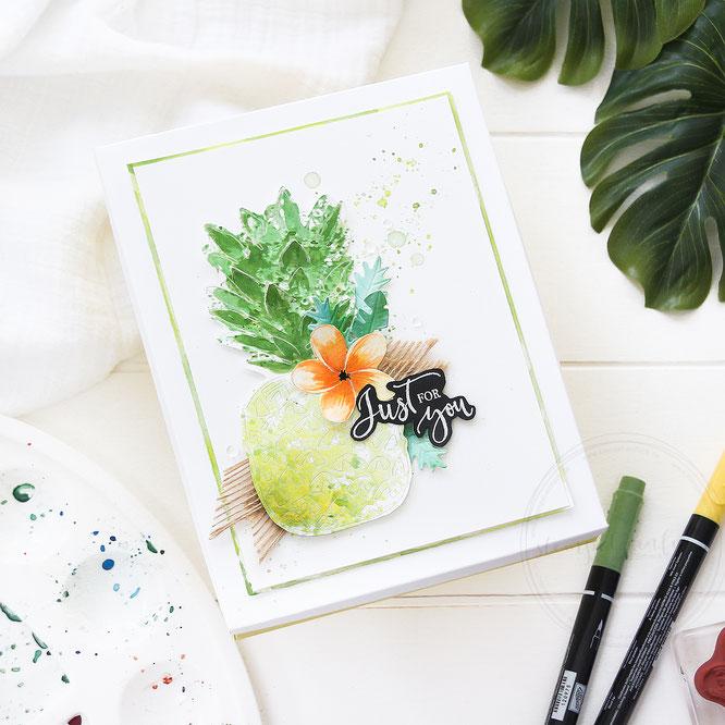 tropisch-ananas verpackung-sylwia schreck for stampin up