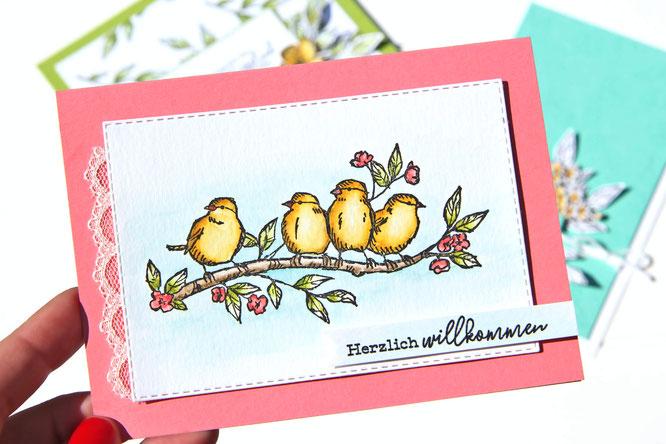 Vogelgarten Karte Stampin up