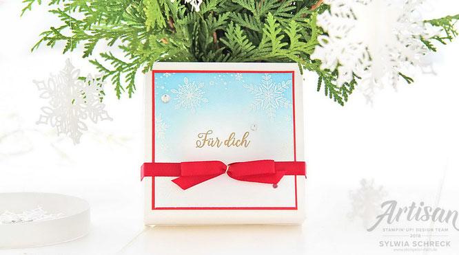 Schneeflocken - Weihnachtsdeko mit Stampin Up!