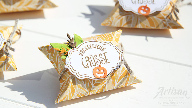 herbst goodies - pillow boxen-stampin up