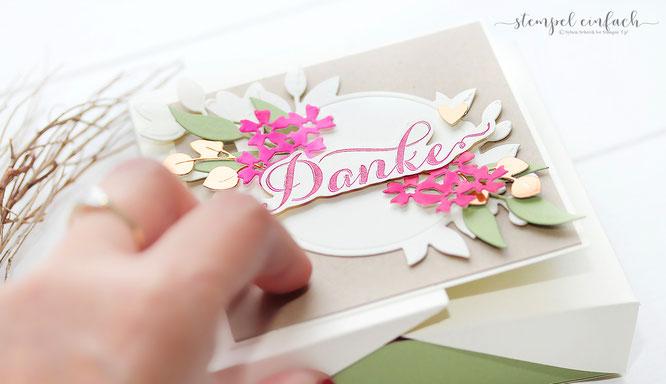 Süßes Dankeschön - Double Flip Top Box