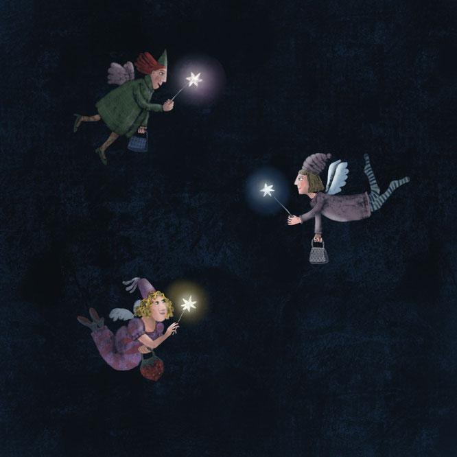 Drei Engel, Illustration Urike Koenig