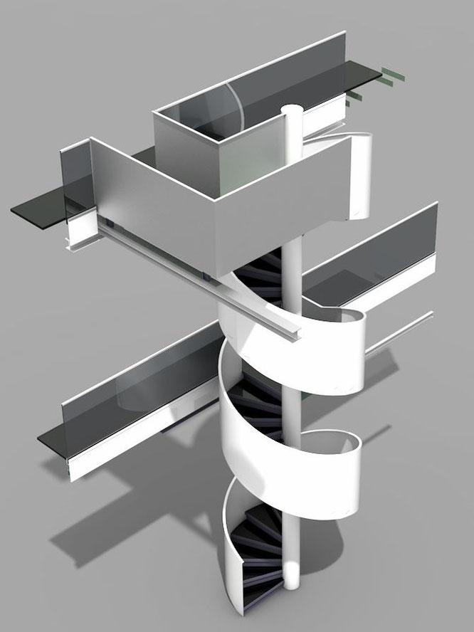 Werkplanung Stahlbau Treppen