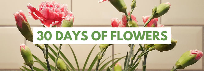 30 days of flowers; 30 Tage Blumenliebe; 30 Tage Projekt; Passion Projects; bloggingforinspiration; live4happiness2day