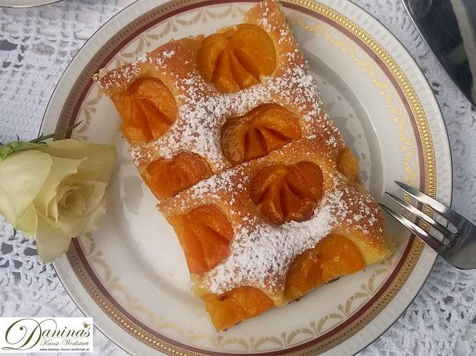 Marillenkuchen Rezept / Aprikosenkuchen Rezept. Lust auf sommerliche Vitamine? Konditor-Rezept by Daninas Dad.