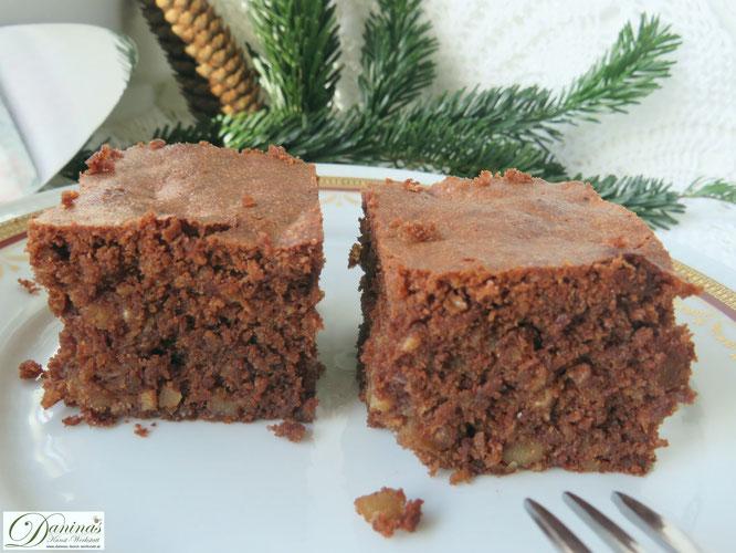 Brownies Rezept mit Nüssen. Weihnachtsbäckerei. Konditor-Rezept by Daninas Dad mit Schritt-für-Schritt Anleitung.