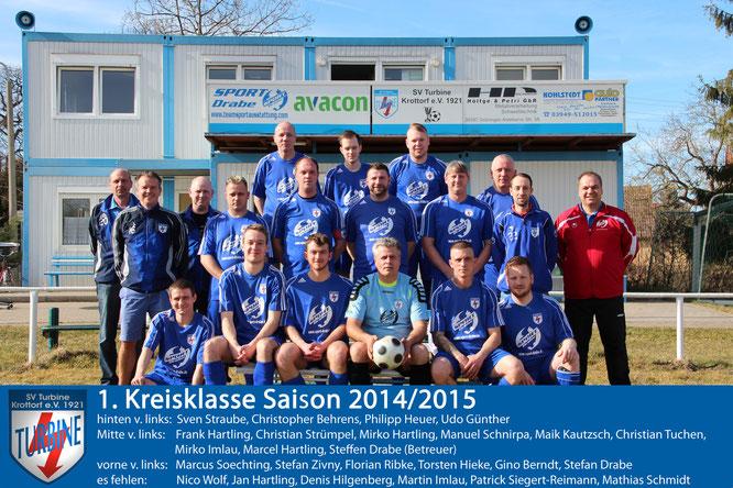 Mannschaftsfoto Saison 2014/2015